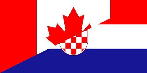 magFlags Bandera Large Canada and Croatia | Hybrid of File Flag of Canada | Bandera Paisaje | 1.35m² | 80x160cm