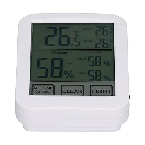Wosune Termometro elettronico igrometro, termometro igrometro Tester di umidità salvaspazio Digitale Touch Screen elettronico per Interni per Serra