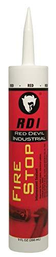 Red Devil Firestop Fire Barrier, 9.0 Ounce LC150RD Sealant, 10.5-Ounce