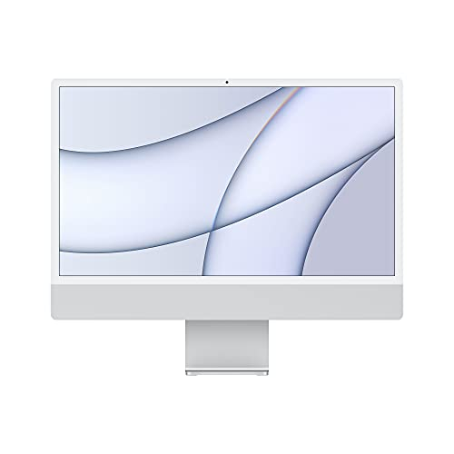 2021 Apple iMac (24', Chip Apple M1 con CPU 8-core eGPU8‑core, quattro porte, 8GB RAM, 256GB) - Argento