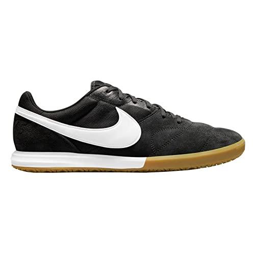 Nike Tiempo Premier II Sala IC - Botas de fútbol sala para hombre, negro blanco, 45 UE