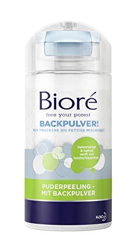 Bioré Puderpeeling - mit Backpulver - 2 x 125 g - trockene bis fettige Mischhaut - pH-neutrale Reinigung