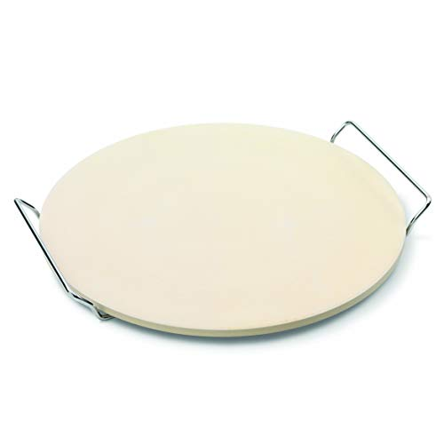 JAMIE OLIVER Pizza Stone and Serving Rack - Round Earthenware Clay - 14 inch