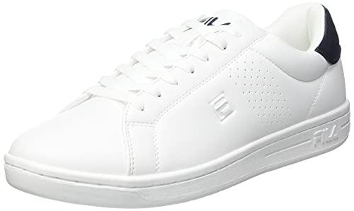 FILA Crosscourt 2 men Sneaker Uomo, Bianco (White/Dress Blue), 43 EU