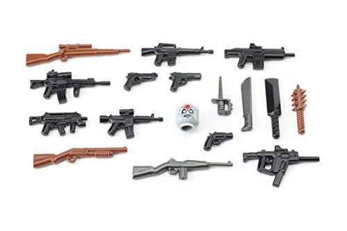BrickArms Zombie Defensa Pack 2016, Set De Armas Custom armas para figuras LEGO