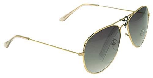 Unbekannt Sonnenbrille in verschiedenen Farbe (One size, Goldener Rahmen/Dunkelgrün Gläser)