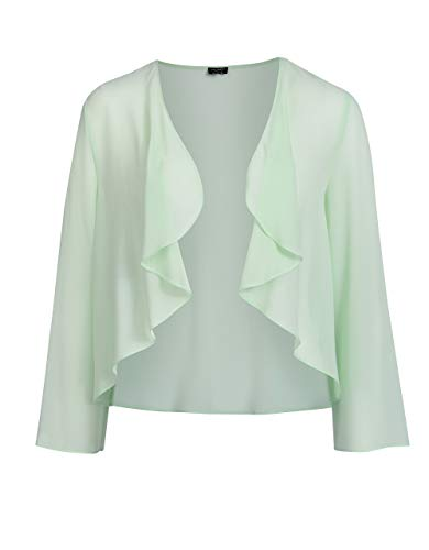 Bexleys Woman by Adler Mode Damen Jacke in transparenter Chiffonqualität Mint 46