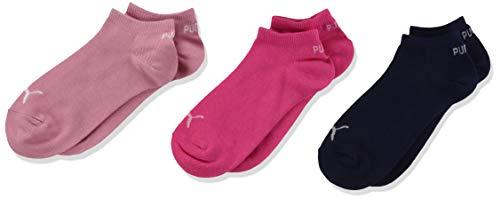 PUMA Unisex-Child Kids' Quarter (3 Pack) Socks, pink/Blue, 35/38 (3er Pack)