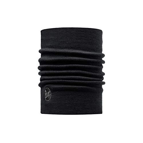 Buff Erwachsene Multifunktionstuch Thermal Merino Neckwarmer Schlauchschal, Solid Black, one size
