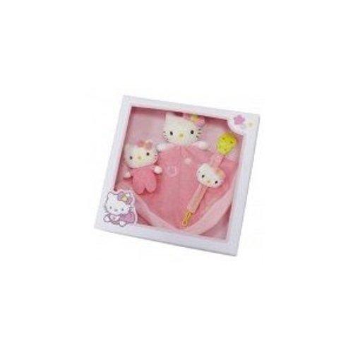 Hello Kitty Babyset - 3-teilig - mit Schnuffeltuch, Rasselkitty und Schnullerkette