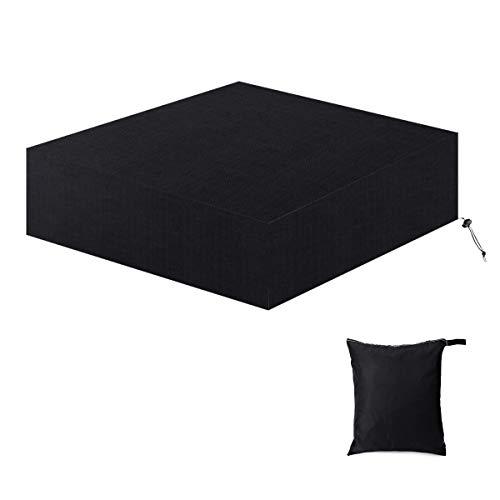 Housse de protection pour meubles de jardin en tissu Oxford 420D - Rectangulaire (250 x 250 x 90 cm) - Noir