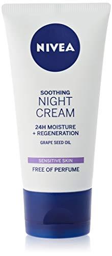 NIVEA Sensitive Night Cream (50 ml), Face Cream for Sensitive Skin with...