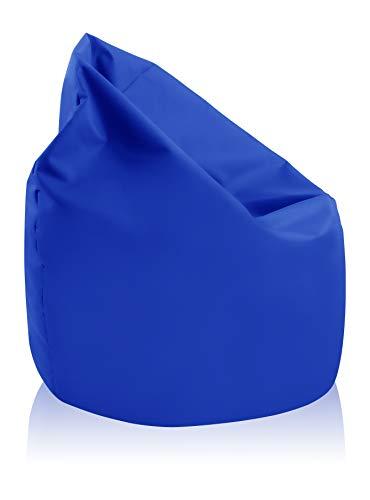 alibey - Pouf géant en forme de poire intérieur/extérieur pour enfants, loisir, école, bleu