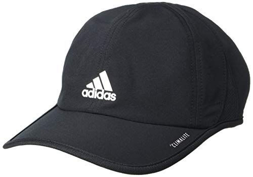 adidas Youth Kids-Boy's/Girl's / Superlite Relaxed Adjustable Performance Cap, Black/White, ONE SIZE