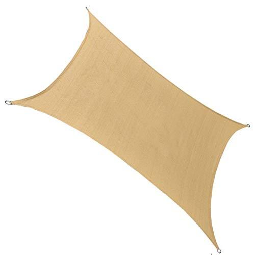 HT&PJ Rectangle Shade Filet Anti-déchirure et à l'ombre Durable Voile Balcon Patio Protection Shade,Beige