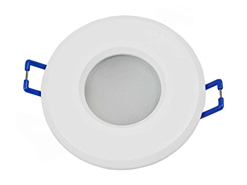 - Einbauleuchte Wasserdicht IP44Zinn Lichter für Dusche Dampfbad Sauna-Strahler PORTAFARETTO Rund P4 Bianco