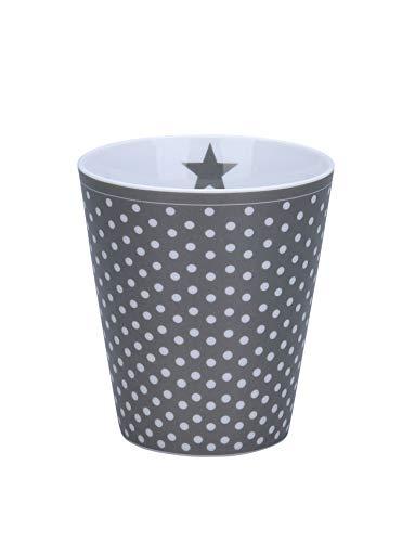 Krasilnikoff - Becher, Tasse - Happy Mugs - Micro Dots - Charcoal - ca. 330 ml - Höhe: 10 cm