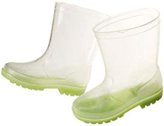 Maximo Kids Clear-Transparent Glow in The Dark Flourescent Rain Boot Toddler/Little Kid