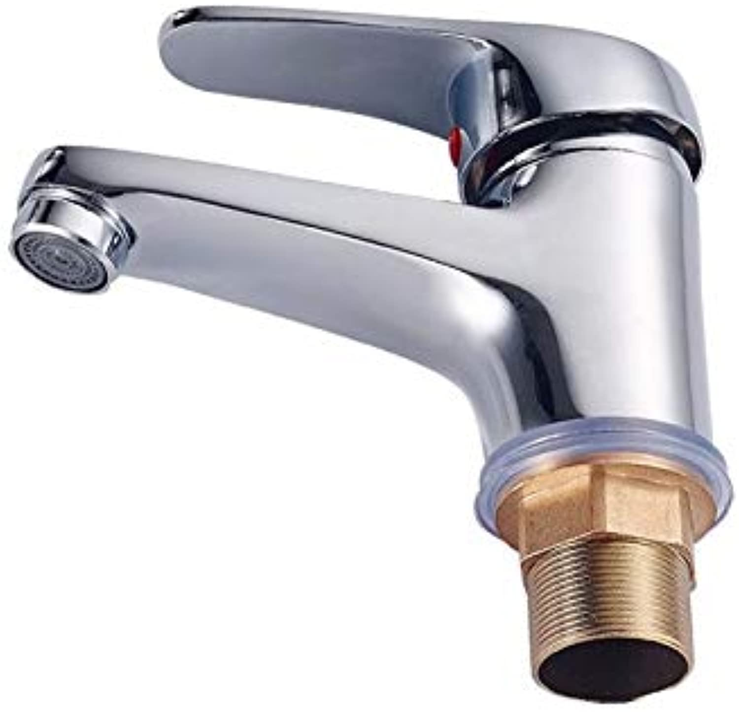 JWLT Faucet Washbasin Faucet, All Copper hot and Cold Bathroom Cabinet, Bathroom Single Hole washbasin, washbasin, Table Basin, Single Cold Water Faucet,Hot and Cold 2012 [Copper] faucets