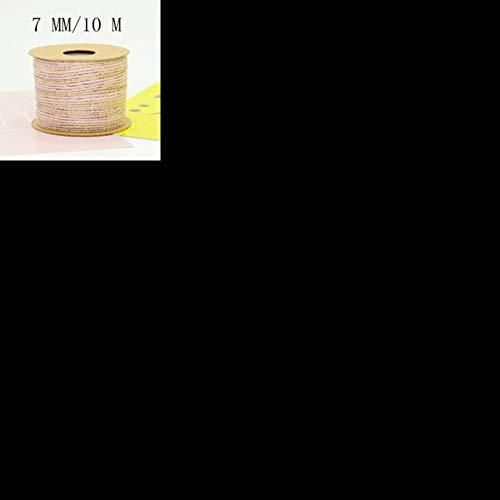 LLAAIT JoJo Bows Hanfseilband Jute Sackleinen Gurtband für Handarbeiten Geschenkbox Kartenverpackung DIY Bastelbedarf Bekleidung Nähen, 07