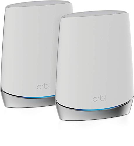 NETGEAR メッシュWiFi 無線LANルーター 2台セット Orbi Wi-Fi6 Mini 速度 AX4200 トライバンド RBK752 (ル...