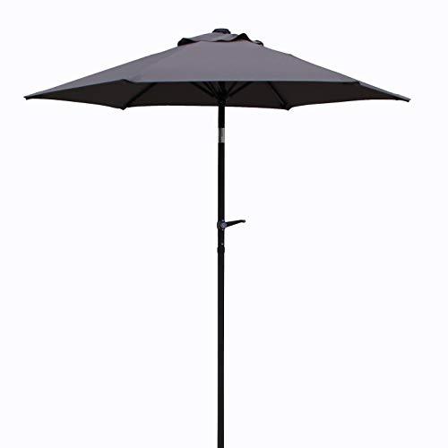 Pure Home & Garden Kurbelschirm Sunny 180 cm anthrazit, mit UV-Schutz 50 Plus, Knickfunktion und abnehmbarem Bezug