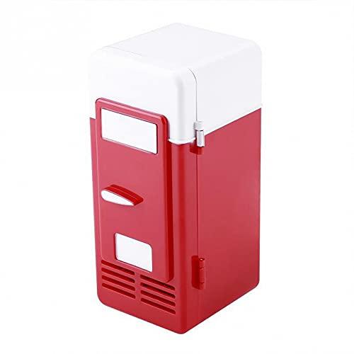 BIANGEY Mini Nevera De USB, Nevera Portátil, Refrigerador De Automóviles, para El Hogar De La Habitación del Dormitorio para El Hogar,Rojo