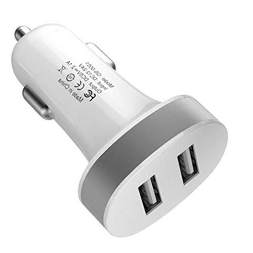 AIMADO Caricabatteria per Auto Generico Caricabatterie Dual USB Interfacce veloci Ricarica Rapida Caricabatterie per Auto