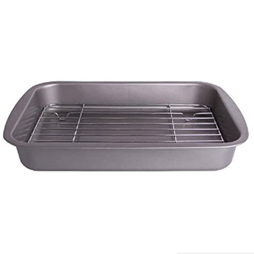 ACGTH Baking Tray with Removable Cooling Rack Set Baking Pan Sheet Usedfor Oven Non Sticky Bread Barbecue Mesh Rack Oil