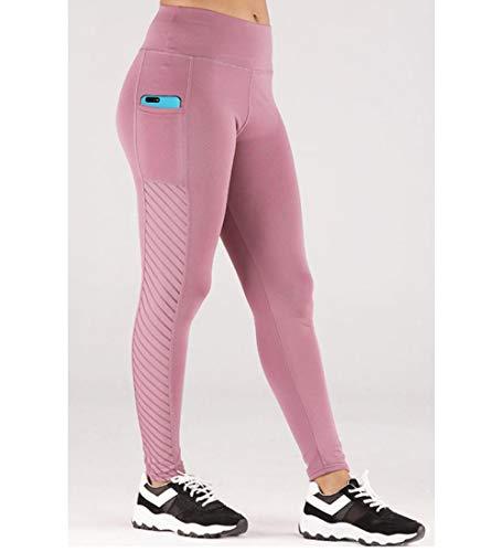 B/H Leggings Deportivos para Mujer para Adelgazar,Pantalones de Yoga para Caderas y Cintura-Skin Powder_S,Leggins Deportivos Yoga Leggings