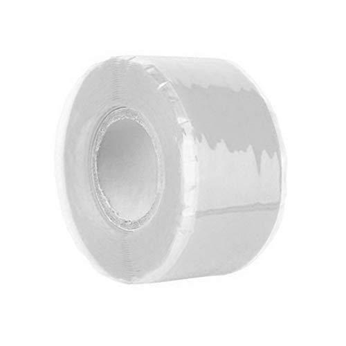 Selbstklebendes Silikon-Klebeband, 1 x 5 (2,5 cm x 1,5 m) für Gartenwasserleitung, Reparatur-Klebeband aus selbstfließendem Silikon, 2.5cm*1.5m, weiß