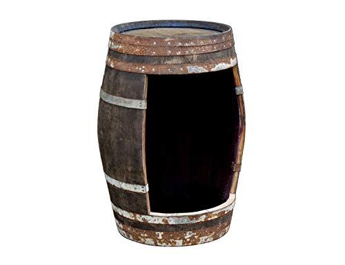 Temesso Weinfass als Weinschrank Barfass mit Öffnung - rustikales Fass (Fass mit Öffnung - Natur)
