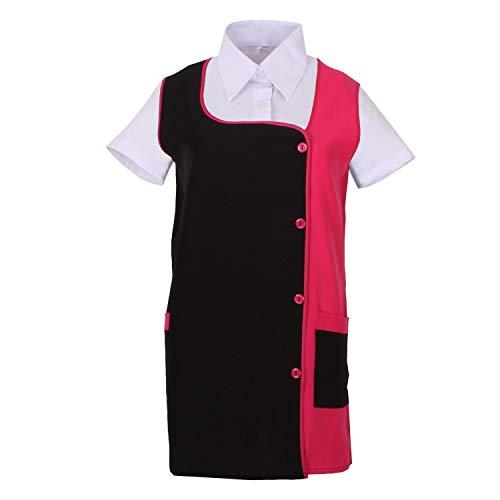 MISEMIYA - Grembiule Impermeabile, Camice da Laboratorio Donna Uniforme Lavoro Clinica Ospedale Pulizia Veterinario Ref.630 - Medium, Pink