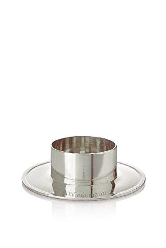 Kerzenhalter aus Alu Silber poliert für Ø 60 mm Kerzen, Taufkerzen, Hochzeitkerzen, Anlasskerzen