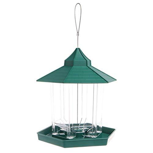 Hängender Vogelhäuschen Vogelfutterbehälter Kunststoff-Papageienvogel-Röhrenhäuschen für Gartendekorationsvögel und -Tiere