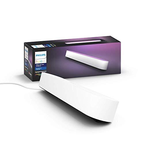 Philips Hue White and Color Ambiance Play Lightbar Erweiterung, dimmbar, bis zu 16 Millionen Farben, steuerbar via App, kompatibel mit Amazon Alexa, weiß