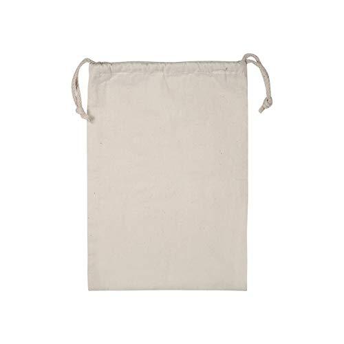 BANGSUN Bolsas reutilizables de algodón lavable orgánico con cordón de almacenamiento de 15 x 20 cm