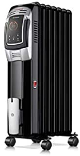 Oil Heater, Homeleader 1500W Oil Filled Radiator Electric Heater with Digital Thermostat, 24 Hrs Timer & Remote, Portable ...