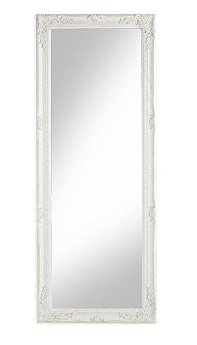 MONTEMAGGI Specchio da parete con cornice rettangolare in legno bianco Bianco