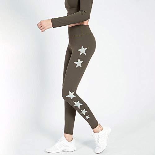 lxylllzs Mujer Pantalones,Elásticos Arbol Impresión,Pantalones de Yoga de Cadera de Cintura Alta, Ropa de Abrigo Ajustada para Mujer, Pantalones de Fitness-M_C, Leggings Mallas para Running Training