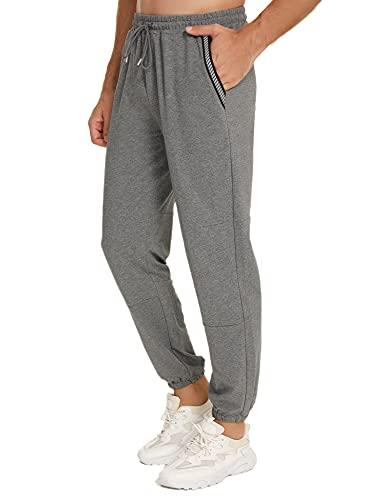 Wayleb Jogger Pant Pantalones Deportivos para Hombre Pantalones de Deporte Hombre Pantalon Chandal Hombre Pantalones Jogger Casual Slim Fit Pant con Tira Fluorescente