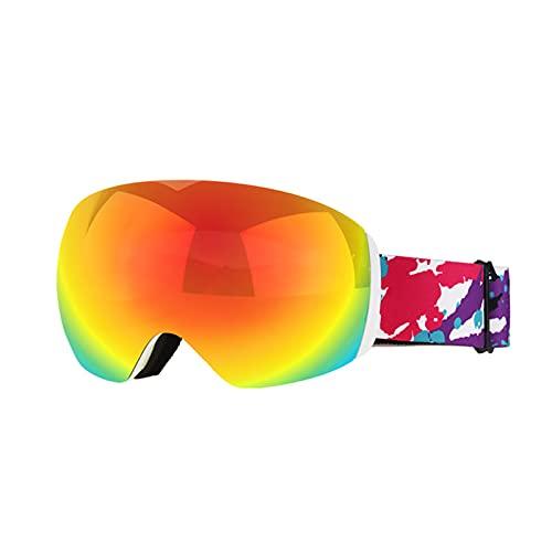 CYYS Gafas de Montar a Caballo de Motocicletas, Gafas de Montar a Caballo de la Motocicleta a través, con Espuma Espesa Suave Anti-arañazos y Gafas de esquí cilíndricas a