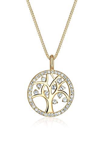Elli Halskette Damen Lebensbaum Anhänger mit Swarovski® Kristalle in 925 Sterling Silber