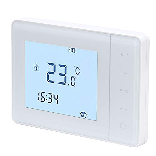 Cerlingwee Controlador de Temperatura, termostato Inteligente Pantalla táctil Inteligente Chip de Alta confiabilidad Microordenador Cristal de Carbono para Uso doméstico Tiendas Dormitorio Hotel