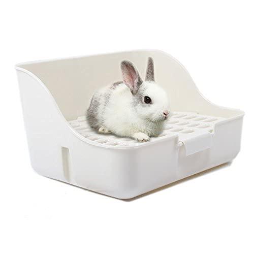 Rabbit Cage Litter Box Entrenador de Orinal fácil de limpiar para Animales Pequeños / Conejo / Conejillo de indias / Hurón