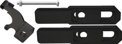 "Yana Shiki A5028AB and Y6B Anodized Black 4""-8"" Swingarm Extension for Suzuki GSX-R 600/750"