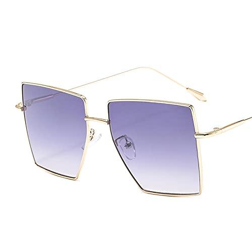 ShZyywrl Gafas De Sol De Moda Unisex Gafas De Sol Cuadradas Vintage con Montura De Mujer, Gafas De Sol Transparentes Retro para Hombre, Gafas De Sombra De Gran