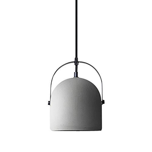 JWL E27 Industrielle Decken Pendelleuchte Graue Zement Hängelampe Esszimmer Metall Loft Lampenschirm Höhenverstellbare LED Leuchte für Coffee Bar Kitchen Hotel Aisle,Weiß