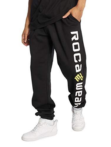 Rocawear Männer Jogginghose Basic Fleece in schwarz S