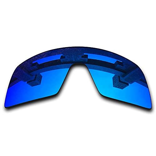 SYEMAX Lentes de repuesto para espejo polarizado compatibles con Oakley Sutro (OO9406) Sunglass - Múltiples opciones, (Azul hielo no polarizado.), Talla única